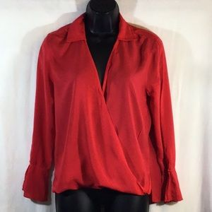Velvet By Graham & Spencer Red Blouse XS